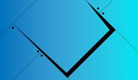 Blu futuro astratto del fondo illustrazione di stock