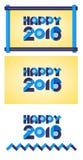 Blu geometrico 2016 felici Illustrazione di Stock