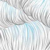 Blu grigio allineato Reticolo astratto senza giunte arte allineata disegnata a mano Fotografie Stock Libere da Diritti