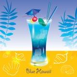 Blu Hawai del cocktail Immagini Stock Libere da Diritti