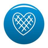Blu impressionabile dell'icona del cuore royalty illustrazione gratis