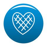 Blu impressionabile di vettore dell'icona del cuore royalty illustrazione gratis
