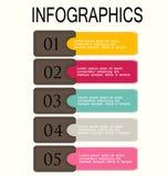 Blu infographic moderno e bianco del modello di progettazione Fotografie Stock