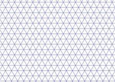 Blu isometrico di griglia Linea vettore del triangolo del fondo royalty illustrazione gratis