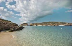 Blu Lagoon. In the island of Gozo, Malta stock photography