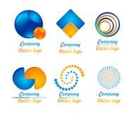 Blu - logo arancio della miscela Fotografia Stock