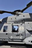 Blu marino italiano dell'elicottero Fotografie Stock