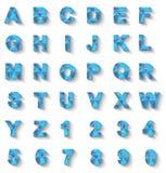 Blu moderno di nuovo stile di alfabeto Fotografia Stock Libera da Diritti