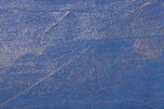 Blu navy del fondo di astrattismo e colore d'argento Pittura multicolore sulla tela fotografia stock