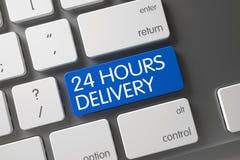 Blu 24 ore di tastiera di consegna sulla tastiera Fotografie Stock Libere da Diritti