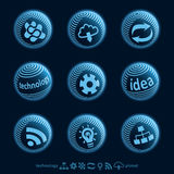 Blu planet icons Stock Photo