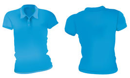 Blu Polo Shirts Template delle donne illustrazione di stock