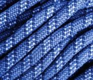 Blu rampicante di struttura della corda Immagine Stock