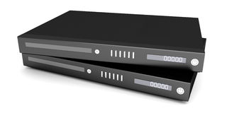 Blu ray devices Royalty Free Stock Photography