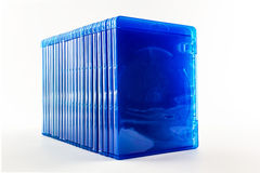 Blu Ray disc boxes. Stock Photography