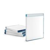 Blu ray disc boxes  on white Royalty Free Stock Photos