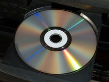 Blu-ray disk tray. Blu-ray and cd dvd disk tray. Part of hi-fi audio player recorder Stock Image