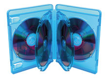 Blu Ray-Plattenkasten Lizenzfreie Stockbilder