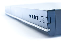 Blu-ray player. With USB connector on a white background Royalty Free Stock Image