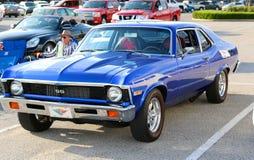 1970 blu reale Chevy Nova ss Immagine Stock Libera da Diritti
