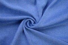 Blu reale fatto dalla fibra del cotone Immagini Stock
