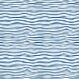 Blu senza cuciture ed il bianco barrano il fondo Fotografia Stock