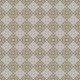 Blu senza cuciture, Tan, & Grey Damask Wallpaper Pattern Fotografie Stock