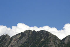 Blu sky, clouds and mountains Stock Images
