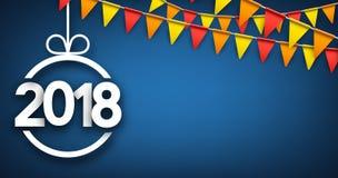 Blu un fondo da 2018 nuovi anni Fotografie Stock