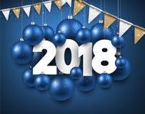 Blu un fondo da 2018 nuovi anni Immagini Stock
