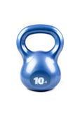Blu un kettlebell da 10 libbre Immagini Stock