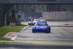 Blu vintage racing car Stock Images