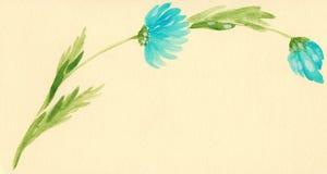 Blu watercolor flower. Blu watercolor hand made flower Royalty Free Stock Image