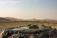 Blubb mud volcanoe royalty free stock photo