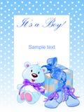 Blubear. It's a boy! - Baby boy shower Stock Photo