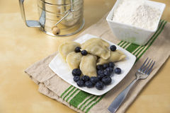 Bluberry pierogi Royalty Free Stock Images