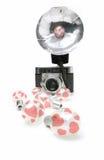 Blubs de destello de la tarjeta del día de San Valentín Foto de archivo libre de regalías