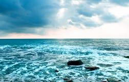 blue över skyvatten royaltyfri bild