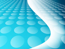 Blue. Background with circles and waves. abstract illustration Stock Image