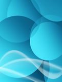 Blue. Background  with circles  and waves. abstract illustration Royalty Free Stock Photos
