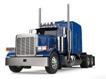 Free Blue 18 Wheeler Truck - No Trailer Stock Images - 105015884