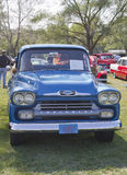 Blue 1958 Chevy Apache Royalty Free Stock Image