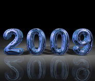 Blue 2009. An artistic illustration in metallic blue colo of the year 2009 royalty free illustration