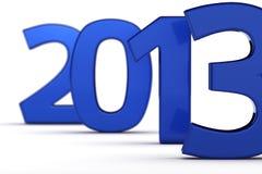 Blue 2013 Stock Image