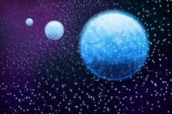 Blue 3 Planet Royalty Free Stock Image