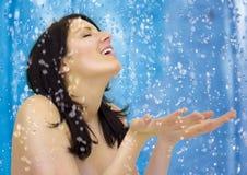 blue 3 prysznic Zdjęcia Royalty Free