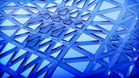 Blue 3d abstraction background. Blue futuristic 3d plate abstraction background with conceptual design Stock Photos