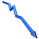Blue 3D arrow. Isolated on white background Royalty Free Stock Images