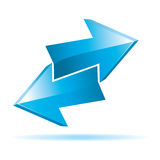 Blue 3d  arrows Stock Photography