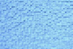Blue 3D background. With many metall cubes Royalty Free Stock Photo